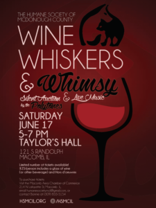 Wine Whiskers and Whimsy poster